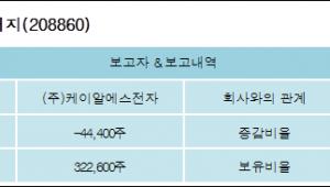 [로봇뉴스][엔지스테크널러지 지분 변동] (주)케이알에스전자10.32%p 증가, 10.32% 보유