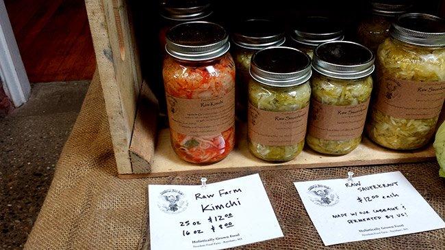 농부 시장에서는 직접 재배하고 만든 식품을 만날 수 있다.