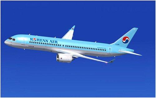 """大韩航空即将首次引进的加拿大庞巴迪宇航公司新机型""""CS300""""(图片来源:韩国《电子新闻》)"""