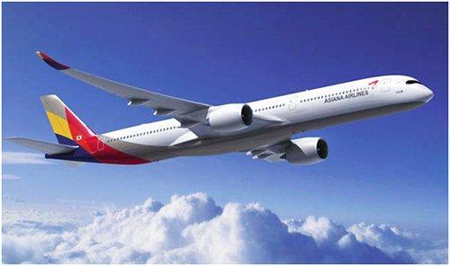 """韩亚航空即将首次引进的空客新机型""""A350-XWB(900)""""(图片来源:韩国《电子新闻》)"""