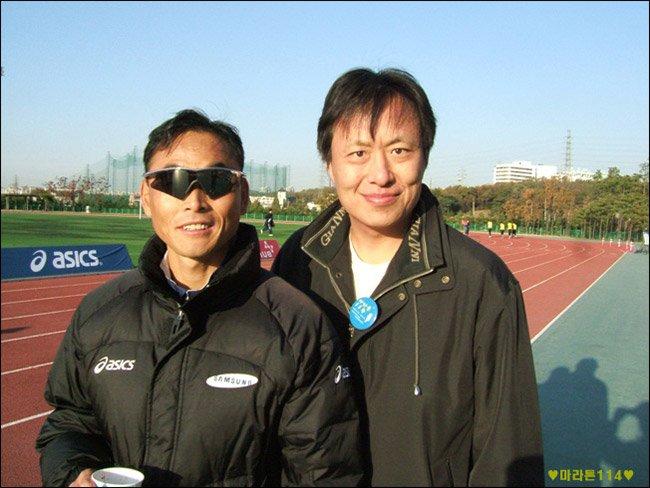삼성 2006 마라토니아데이 에서 이봉주 선수와 함께