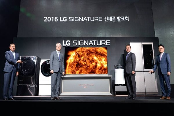 LG Electronics launched its ultra-premium brand called 'LG Signature' in 2016 and has accelerated its premium strategy.