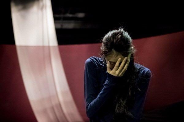 '붉은 가면의 진실' 리허설사진. 사진=헤케이브 소은 컴퍼니, 문화예술기획 소리 숲 제공