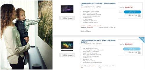 "LG电子有关人士表示:""LG Signature OLED TV W目前尚未正式面市,无法公布售价。在美国通过分销渠道公布的价格与实际售价不会有大的出入""(图片来源:韩国《电子新闻》)"