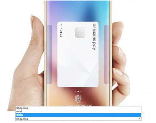 """活用AI语音助手""""Bixby""""而实现三星Pay功能的面貌(图片来源:韩国《电子新闻》)"""