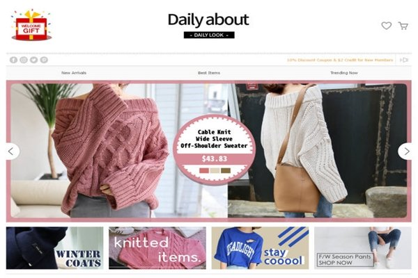 Homepage of DAILY ABOUT