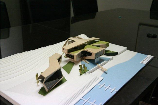건물의 형태를 의뢰인에게 이해시키고 디자인을 결정하기 위한 모형제작의 예 (자료:경암건축)