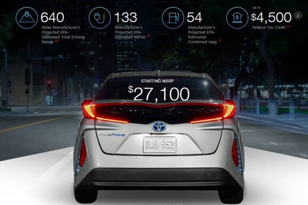 Toyota USA homepage that is introducing Prius Prime