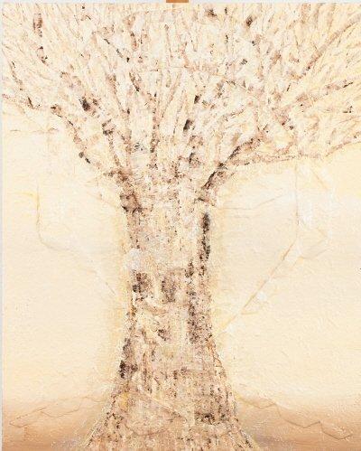 나무사람, 100×80.3cm, Mixed Media on canvas, 2017. 사진=김정아 작가 제공