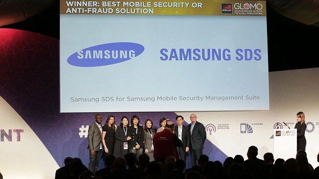 MWC 2017에서 삼성SDS의 모바일 통합솔루션인 '삼성 모바일 시큐리티 매니지먼트 스위트'가 글로벌 모바일 워어드(Global Mobile Awards, 이하 Glomo)를 수상했다.
