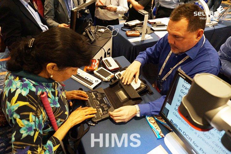 미국 보조공학 박람회 'CSUN'에서 최초 공개된 셀바스 헬스케어의  차세대 점자정보단말기 '한소네5'