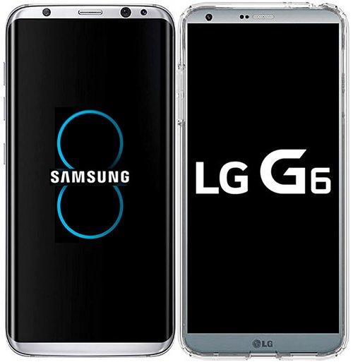外媒传出的Galaxy S8(左)与S6图片(图片来源:韩国《电子新闻》)