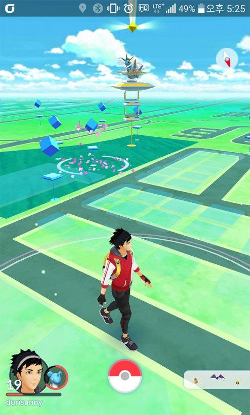 그림4. 캐릭터가 직접 활보하는 지도는 사용자와의 일체감을 제공한다