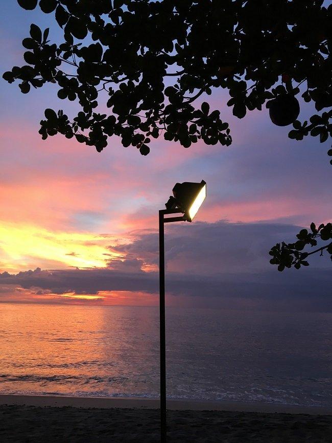 바닷가 풍경, 롬복, 인도네시아, 2017년 1월