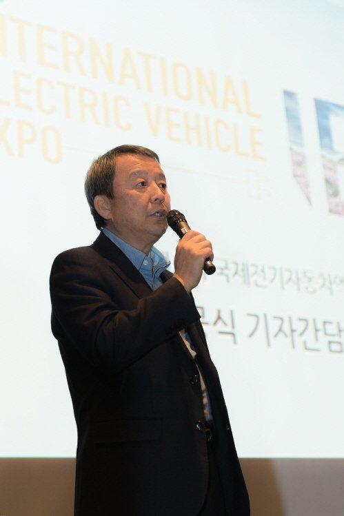 """국제전기차엑스포 김대환 위원장 """"중국 車업계, 한국에 높은 관심"""""""