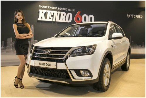 """中韩汽车在韩国市场首次推出的中国产SUV""""KENBO600""""(图片来源:韩国《电子新闻》)"""
