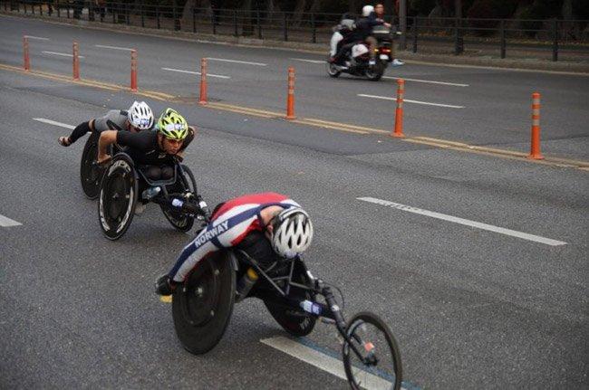 2016년 중앙마라톤 휠체어 선수들-마라톤 114 오후님 제공