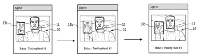 사용자의 얼굴 및 표정, 표정의 순서까지 인식하여 본인 인증을 진행하는 모바일 화면