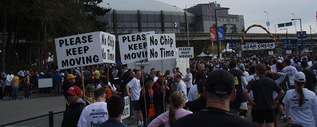 2008년 밴쿠버 썬런 결승선 이후의 모습
