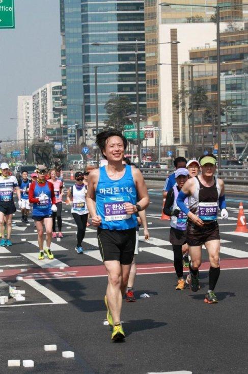 동아마라톤 2017 에 참가한 모습
