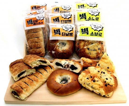 롯데제과가 최근 푸짐한 크기를 자랑하는 '빅 시리즈' 빵을 출시했다고 밝혔다. 사진=롯데제과 제공
