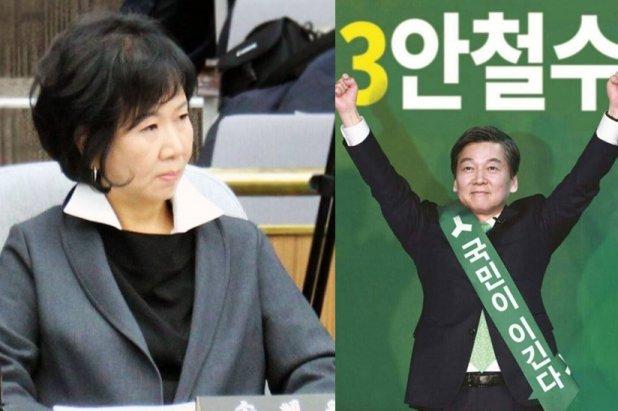 """손혜원 의원 """"'안철수 포스터' 얼굴과 몸 다르고 좌우 바뀌어...국민 속였다"""" 일침"""