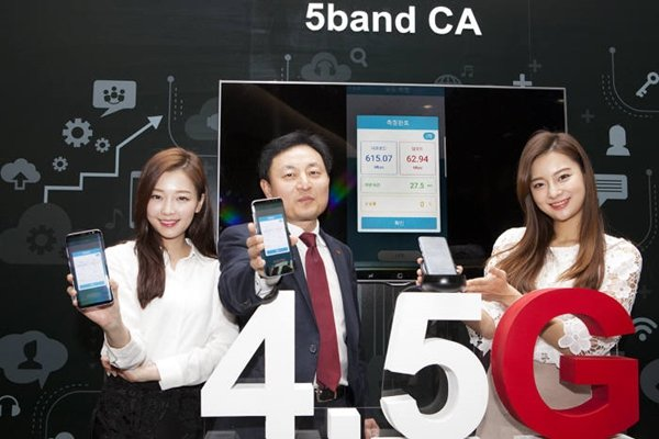 SK Telecom announced on the 20th that it will apply '5-Band CA' technology, which is called final step of evolution of LTE service, starting with Galaxy S8 and create 4.5G mobile telecommunication generation where there is no boundary between wired and wireless network.