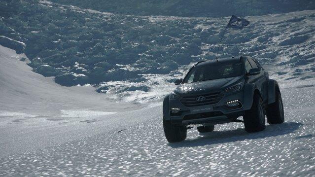 현대차 싼타페, 남극횡단 성공했다
