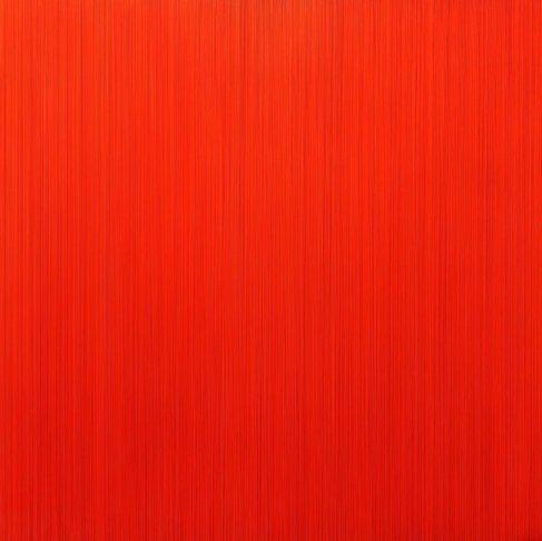 김현식, Who likes orange, Epoxy resin. Acrylic color, 100x100cm 2016