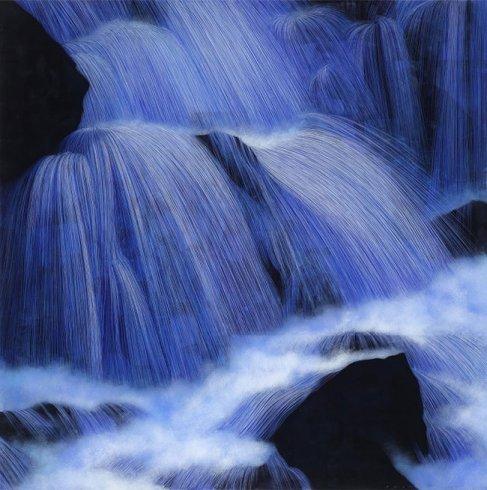 김현식, 사이공간-Illusion, Epoxy resin, Acrylic color, 90x90cm 2012