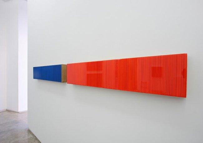 김현식, Who likes K-colors, Epoxy resin. Acrylic color, 각200x28cm 2017