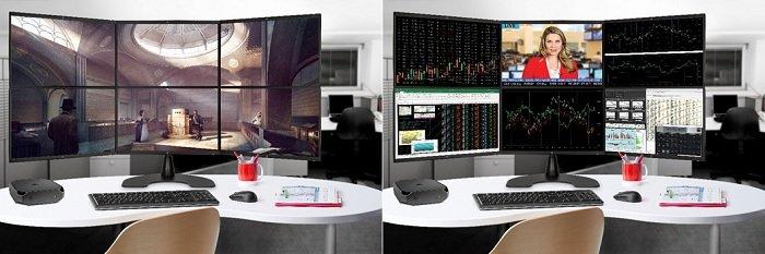 HP Z2 미니 – 최대 6개의 디스플레이에 연결 가능