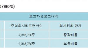 [ET투자뉴스][에이블씨엔씨 지분 변동] 주식회사리프앤바인25.54%p 증가, 25.54% 보유
