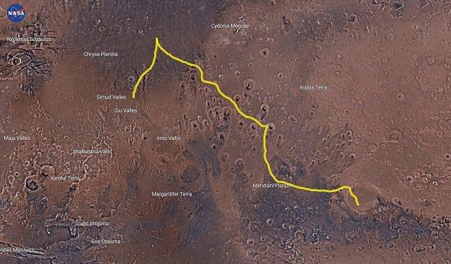 그림 6.  '마션'에서 다루고 있는 화성 공간 역시 지도를 통해 이해할 수 있다.