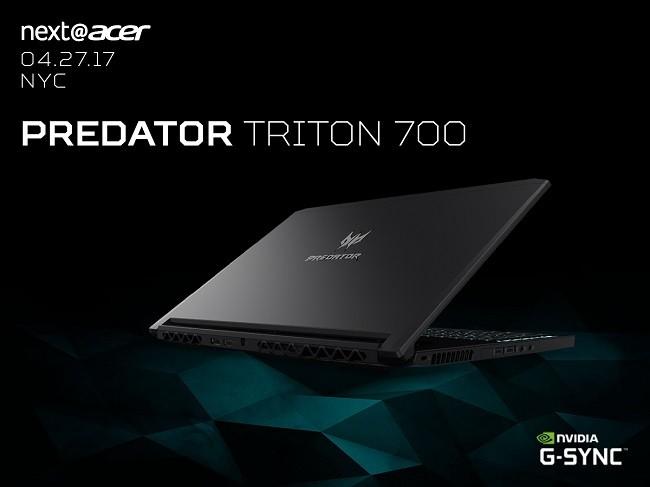 1.89cm 두께 초슬림 게이밍 노트북, '프레데터 트리톤 700' 선뵈