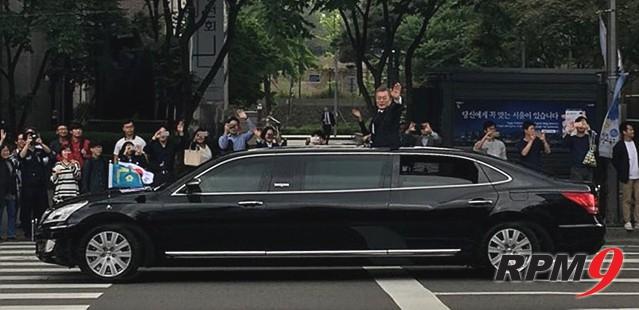 문재인 19대 대통령의 의전을 담당한 차는 어떤 차?