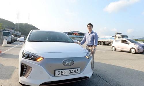 """现代汽车""""Ioniq Electric""""(图片来源:韩国《电子新闻》)"""