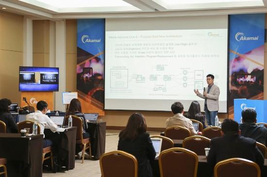 아카마이코리아는  지난 18일 온라인 미디어 기술의 방향과 아카마이 '미디어 서비스 라이브(Media Services Live) 기술을 설명했다.
