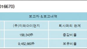 [ET투자뉴스][포비스티앤씨 지분 변동] (주)미래아이앤지 외 2명 0.29%p 증가, 22.83% 보유