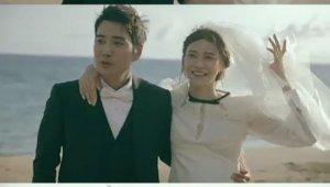 주상욱♥차예련, 미리 보는 결혼식? 해변의 신부 '시선집중'