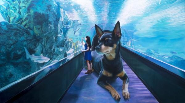 Gleaming-Touch the blue, 캔버스에 유채, 91.0x162.2cm, 2014. 사진=세종문화회관제공