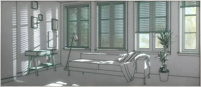 황선태,-빛이-드는-공간,-202x87x4cm강화유리에-샌딩,-유리전사,-LED,-2015