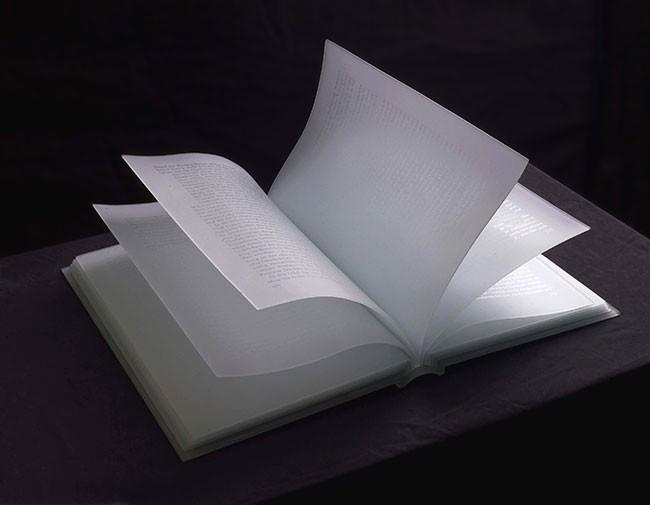 황선태,-얼어붙은이야기,-39x26x20cm,유리,유리샌딩,-2006