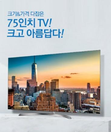 올해 온라인몰에서 TV 판매의 트렌드는 가성비를 앞세운 '대형'제품이 이끈 것으로 나타났다. 사진=에누리 가격비교 제공