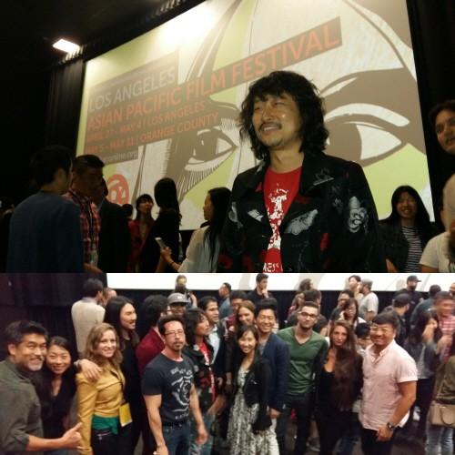 제작, 공동작가, 주연으로 참여한 영화 'SHE JANG'의 LA Asian Pacific Film Festival(LA아시아태평양영화제) 시사회. 사진=종맨킴 제공