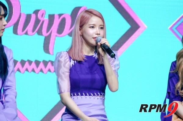 22일 오후 4시 서울 홍대 무브홀에서는 마마무의 다섯 번째 미니앨범 'purple(퍼플)' 발매기념 쇼케이스가 열렸다. 리더 솔라가 질문에 답하고 있다. (사진=박동선 기자)