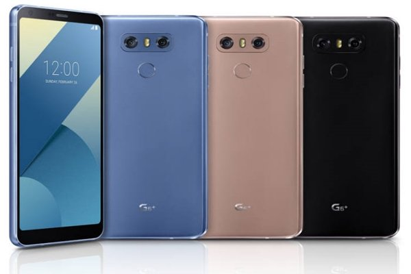 LG G6 Plus models per color