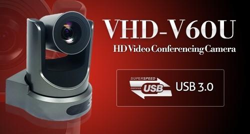 브이투테크놀러지코리아, 화상회의 HD PTZ카메라 VHD-V60U 출시