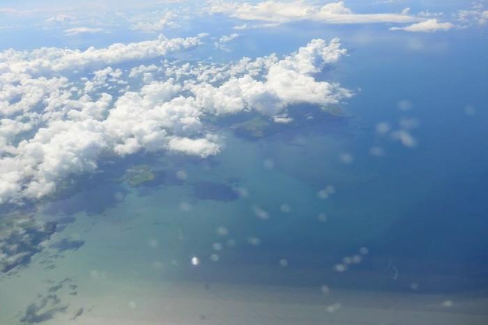 바다 위에서