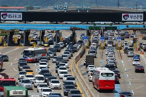 韩国中秋连休期间高速公路免费